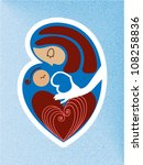 mother and child icon | Shutterstock .eps vector #108258836