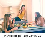 teen girls best friends having... | Shutterstock . vector #1082590328