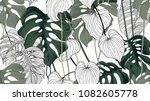 floral seamless pattern  green  ...