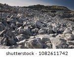 destroyed rocks after the...   Shutterstock . vector #1082611742