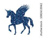 pegasus unicorn pattern... | Shutterstock .eps vector #1082613062