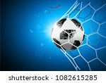 the soccer ball is in the goal... | Shutterstock .eps vector #1082615285