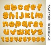 cookies font - stock vector
