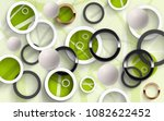 abstraction of colored circles... | Shutterstock . vector #1082622452