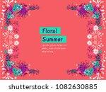 floral vector background | Shutterstock .eps vector #1082630885