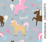 vector seamless pattern with... | Shutterstock .eps vector #1082633972