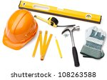 Hard Hat  Pencil  Line  Hammer...
