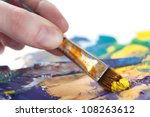 somebody is painting some... | Shutterstock . vector #108263612