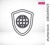 shield icon  stock vector... | Shutterstock .eps vector #1082640425