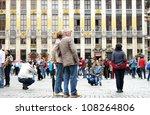 brussels  belgium   july  21 ... | Shutterstock . vector #108264806