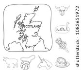 country scotland outline icons... | Shutterstock .eps vector #1082651972