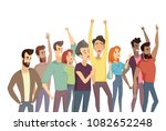 people crowd and pastime ... | Shutterstock .eps vector #1082652248