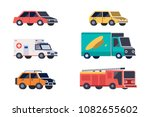urban  city cars and vehicles... | Shutterstock .eps vector #1082655602