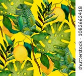 watercolor seamless pattern... | Shutterstock . vector #1082662418