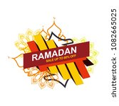 ramadan sale illustration with... | Shutterstock .eps vector #1082665025