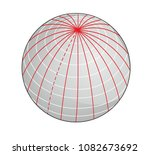 geographic coordinate system of ... | Shutterstock . vector #1082673692