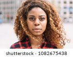 street portrait of serious... | Shutterstock . vector #1082675438