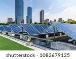 solar and modern city skyline   | Shutterstock . vector #1082679125