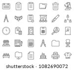 thin line icon set   notes... | Shutterstock .eps vector #1082690072