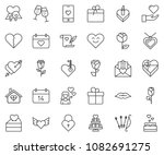 thin line icon set   rose...   Shutterstock .eps vector #1082691275