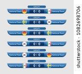 match schedule group f vector... | Shutterstock .eps vector #1082698706