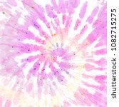tie dye pattern. hand drawn... | Shutterstock . vector #1082715275