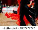 red ball gown and black... | Shutterstock . vector #1082722772