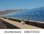 solar collection panels at a... | Shutterstock . vector #108272522