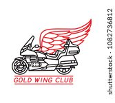 gold wing club. motorcycle... | Shutterstock .eps vector #1082736812