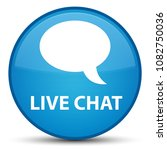live chat isolated on special... | Shutterstock . vector #1082750036