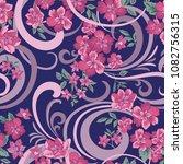 floral seamless pattern. flower ... | Shutterstock .eps vector #1082756315