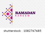 ramadan kareem with ornament  | Shutterstock .eps vector #1082767685