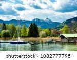 tegernsee lake in bavaria  ... | Shutterstock . vector #1082777795