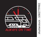 city train. always on time.... | Shutterstock .eps vector #1082779982