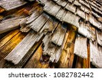 old wooden shingles at a hut  ... | Shutterstock . vector #1082782442