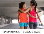 couple of female friends...   Shutterstock . vector #1082784638