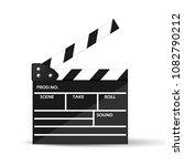 realistic cinema clapperboard ... | Shutterstock .eps vector #1082790212