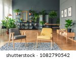 botanic living room interior... | Shutterstock . vector #1082790542