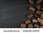 beautiful creative chocolate... | Shutterstock . vector #1082813345