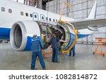 assembling  replacing engine... | Shutterstock . vector #1082814872