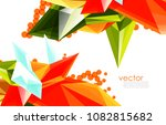 vector color glass crystals on... | Shutterstock .eps vector #1082815682