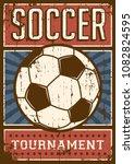 soccer football sport retro pop ... | Shutterstock .eps vector #1082824595