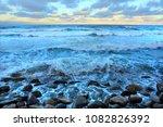 winter beach background | Shutterstock . vector #1082826392