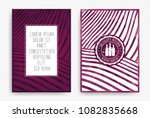 templates with wine designs.... | Shutterstock .eps vector #1082835668