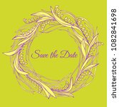 handdrawn wreath made in vector.... | Shutterstock .eps vector #1082841698