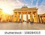 Brandenburg Gate At Sunset ...