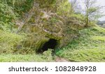 Small photo of Aveline's Hole, a natural cave a Burrington Coombe, Somerset, England which contained the oldest human burials in Britain.