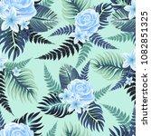 vector seamless tropical... | Shutterstock .eps vector #1082851325