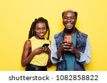portrait of an excited young... | Shutterstock . vector #1082858822