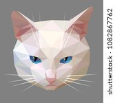 vector low poly style... | Shutterstock .eps vector #1082867762